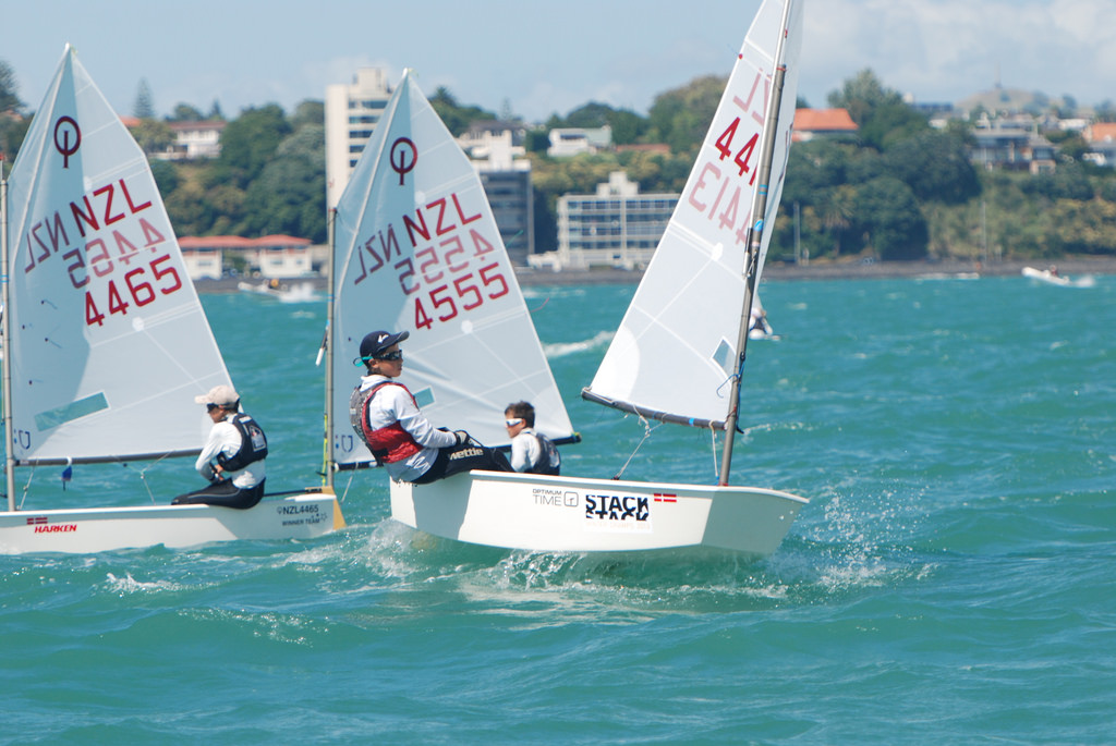 William, Pat and Scott in action day 1 Auckland Opti Champs 2014.